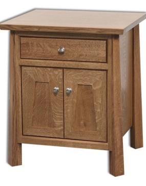 Vancoover 1-Drawer 2-Door Nightstand