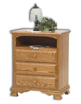 Heritage 3-Drawer with Opening Nightstand