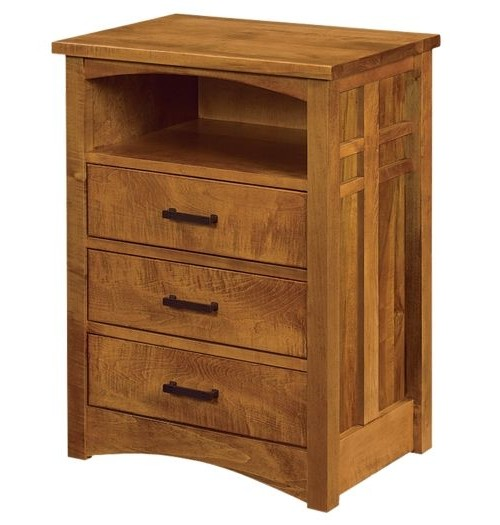 Kascade 3 drawer with Opening Nightstand