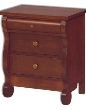 Old Classic Sleigh 3 Drawer Nightstand
