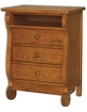 Old Classic Sleigh 3 Drawer Nightstand w/Opening