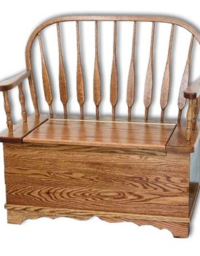 Low Feather Bow Bench
