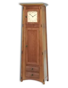 Mccoy 1 Door-1 Drawer Storage Cabinet Clock