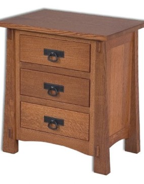 Modesto 3 Drawer Nightstand