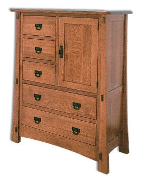 Modesto 1 Door 5 Drawer Chest