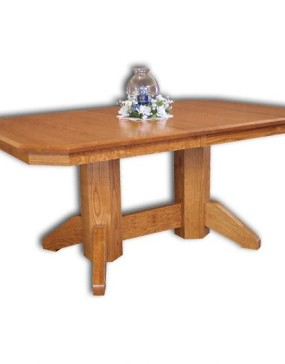 NW Mission Double Pedestal Table