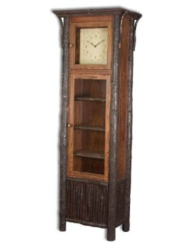 Rustic Hickory Old Country Grandfather Clock