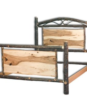 Rustic Hickory Panel Bed