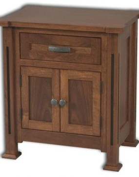Parker Mission 2-Door 1-Drawer Nightstand
