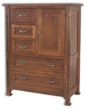 Parker Mission 1-Door 5-Drawer Chest