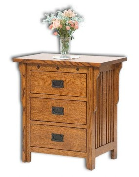 Royal Mission 3 Drawer Nightstand