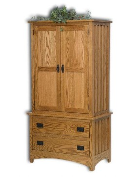 Mission Chest on Chest Armoire