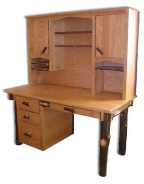 Rustic Hickory Secretary Desk