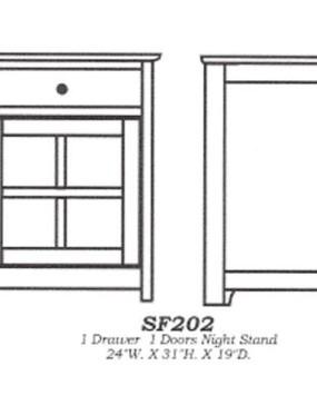Sante Fe 1-drawer 1-door Nightstand