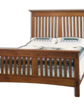 McCoy Slatted Mission Bed