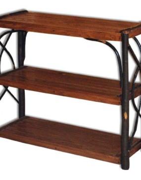 Rustic Hickory Book Shelves
