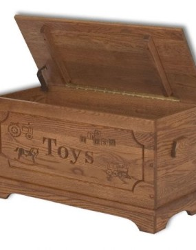 Toy Chest With Carving