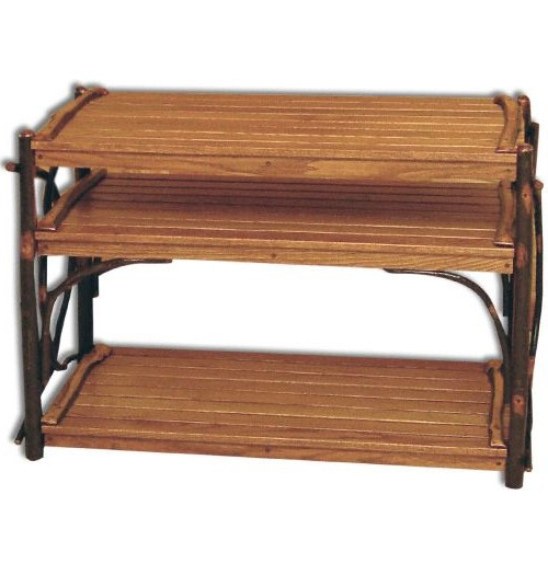 Rustic Hickory TV Stand